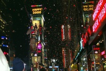 the NYC millennium celebration brought 2 million people to Times Square.  The event featured music by John Califra