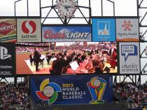 Preparing the Oakland Symphony for its live performance of John's theme for the 2013 World Baseball Classic at ATT Park, San Francisco